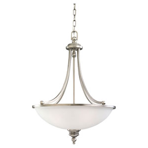 Evelyn Antique Brushed Nickel Three-Light Pendant