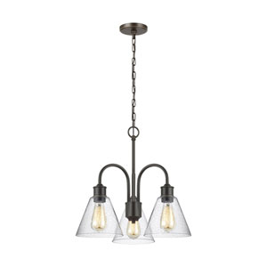 Afton Bronze Three-Light Chandelier