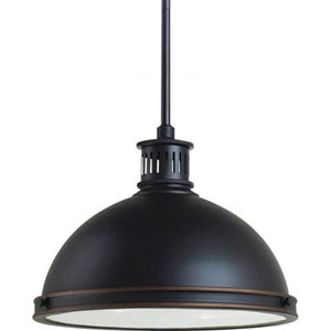 Afton Bronze 13-Inch Two-Light Pendant