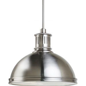 Afton Brushed Nickel 16-Inch Three-Light Pendant