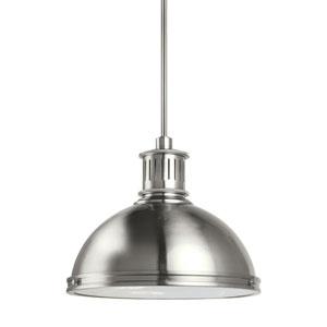 Afton Brushed Nickel 16-Inch LED Pendant