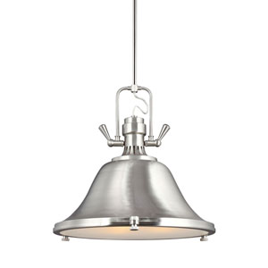 Afton Brushed Nickel 22-Inch Three-Light Pendant
