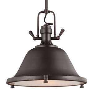 Afton Black with Bronze Accents Two-Light Pendant