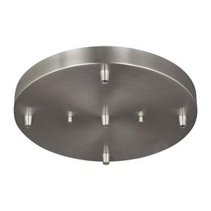 Loring Brushed Nickel Five-Light Pendant Canopy