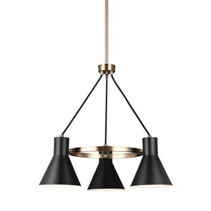 Loring Bronze Three-Light Chandelier