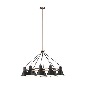 Loring Bronze Eight-Light Chandelier