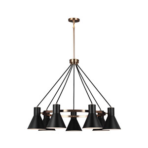 Loring Bronze Seven-Light LED Chandelier