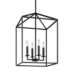 Uptown Black 19-Inch Four-Light LED Energy Star Pendant