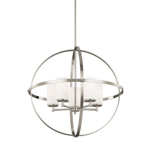 Nicollet Brushed Nickel 27-Inch Five-Light LED Energy Star Chandelier