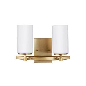 Nicollet Satin Bronze 14-Inch Two-Light LED Energy Star Bath Vanity
