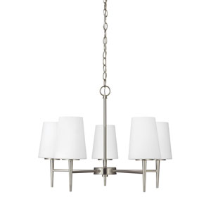 Nicollet Brushed Nickel Five-Light LED Energy Star Chandelier