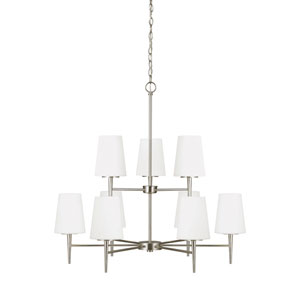 Nicollet Brushed Nickel Nine-Light LED Energy Star Chandelier
