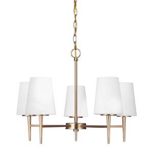 Nicollet Bronze Five-Light Chandelier