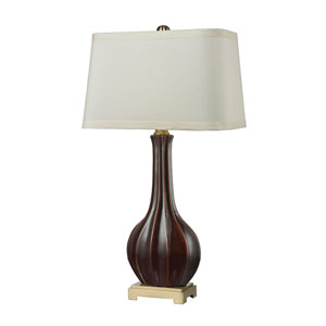 Aster Red and Brass One-Light Table Lamp