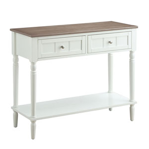 Hayden Driftwood and White Hall Table
