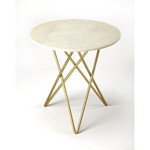 Monroe White Marble Table