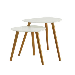 Uptown White Nesting End Tables