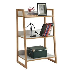 Nicollet White Three Tier Bookshelf