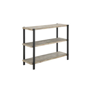 River Station Black Console Table
