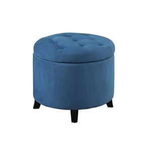 Nicollet Blue Storage Ottoman