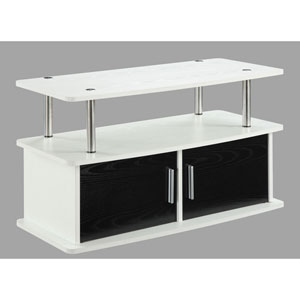 Nicollet White Two Door TV Stand