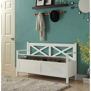 Grace White Storage Bench