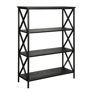 Selby Black Four Tier Bookcase