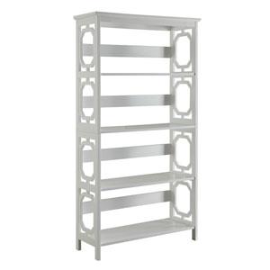 Selby White Five Tier Bookcase