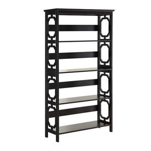 Selby Black Five Tier Bookcase