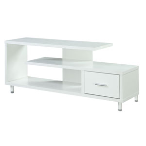 Nicollet White 60-inch TV Stand