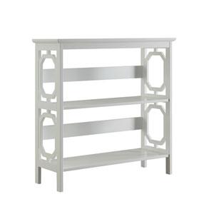 Selby White Three Tier Bookcase