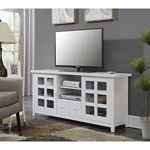 Selby White  60-Inch TV Stand