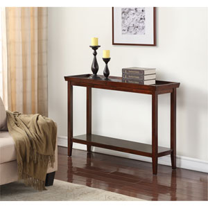 Aster Espresso Rubber Wood Console Table