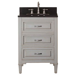 Selby Grayish Blue 24-Inch Vanity Combo with Black Granite Top