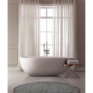 Nicollet White Acrylic Oval Bathtub