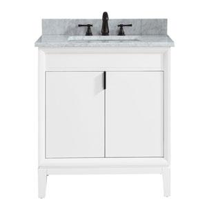 Nicollet White 31-Inch Vanity Combo