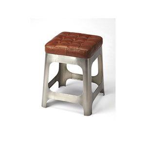 Fulton Brown Leather Counter Stool