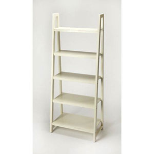 Loring White Bookcase