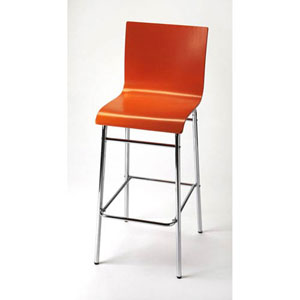 Nicollet Red Bar Stool