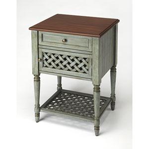 Quinn Rustic Blue End Table