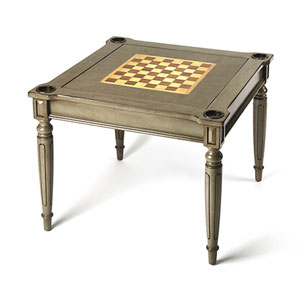 Wellington Silver Satin Multi Game Card Table