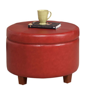 Loring Red Large Storage Ottoman