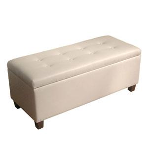 Loring Cream Large Storage Bench