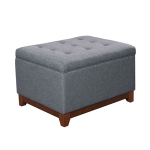 Selby Grey and Driftwood Storage Ottoman