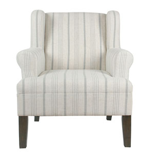 Grace Grey Washed Rolled Arm Accent Chair