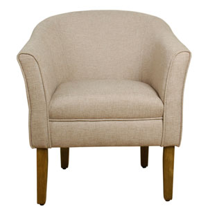Whittier Brown and Driftwood Accent Chair