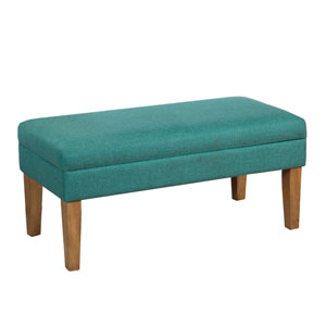 Selby Teal Storage Bench