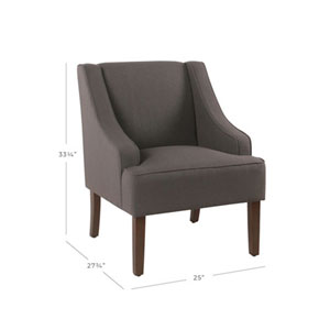 Cooper Dark Charcoal Grey Accent Chair