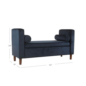 Cooper Dark Navy Blue Storage Bench