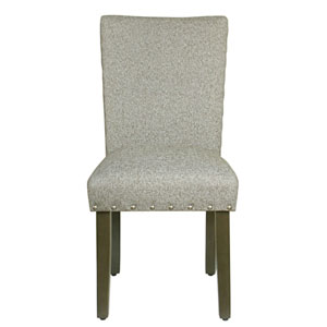 Whittier Grey and Dark Walnut Parsons Chair (Set of Two)
